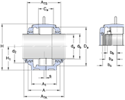 Immagine per la categoria Large SNL series for bearings on a cylindrical seat, with standard seals
