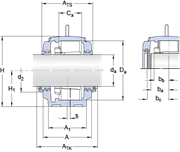 Immagine per la categoria Large SNL series for bearings on an adapter sleeve, with standard seals